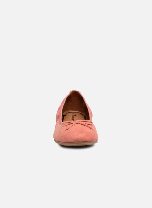 Ballerines Tamaris Tolama Rose vue portées chaussures