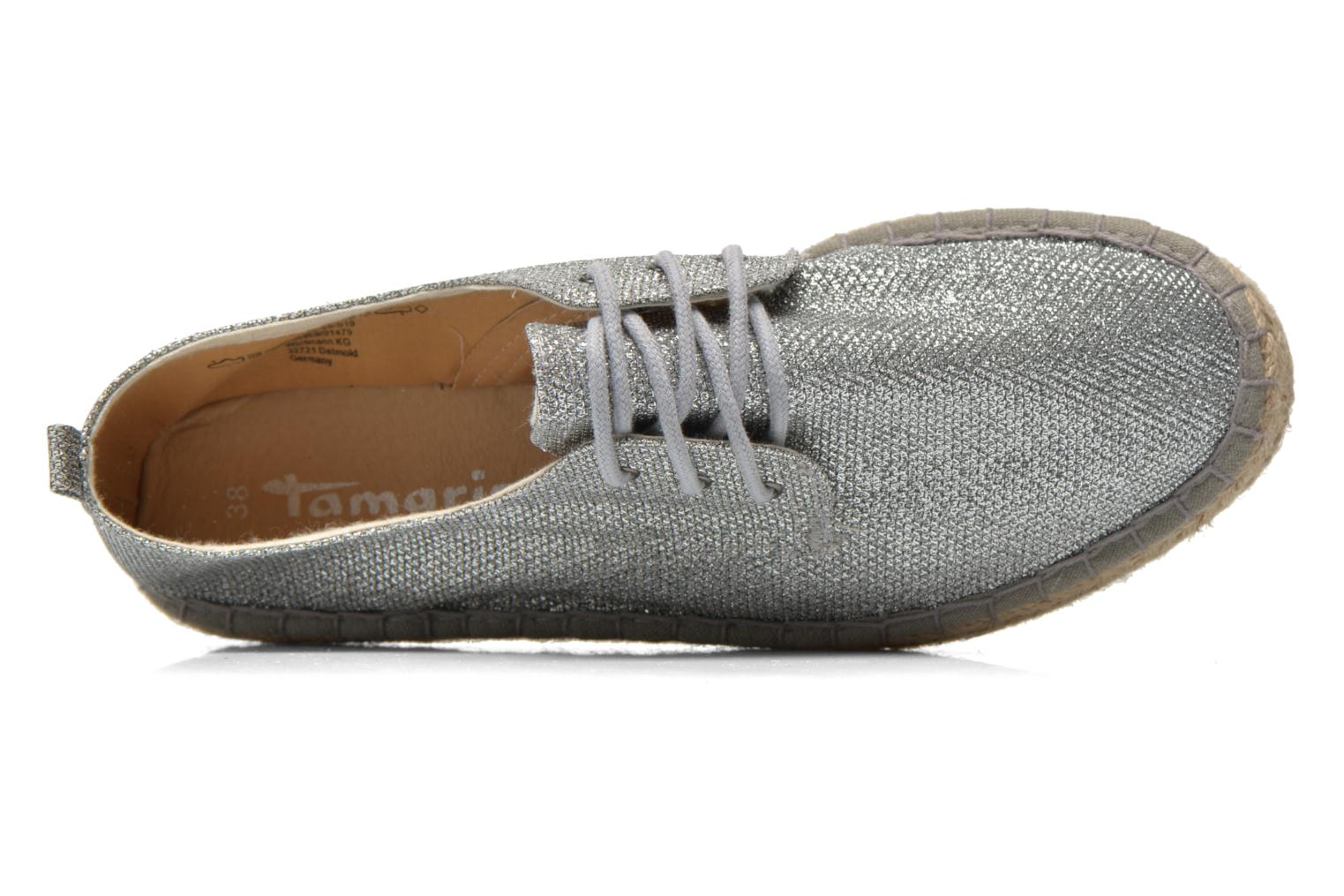 Lace-up shoes Tamaris Glorira Silver view from the left