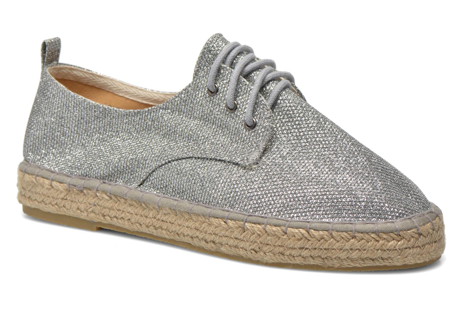 Lace-up shoes Tamaris Glorira Silver detailed view/ Pair view