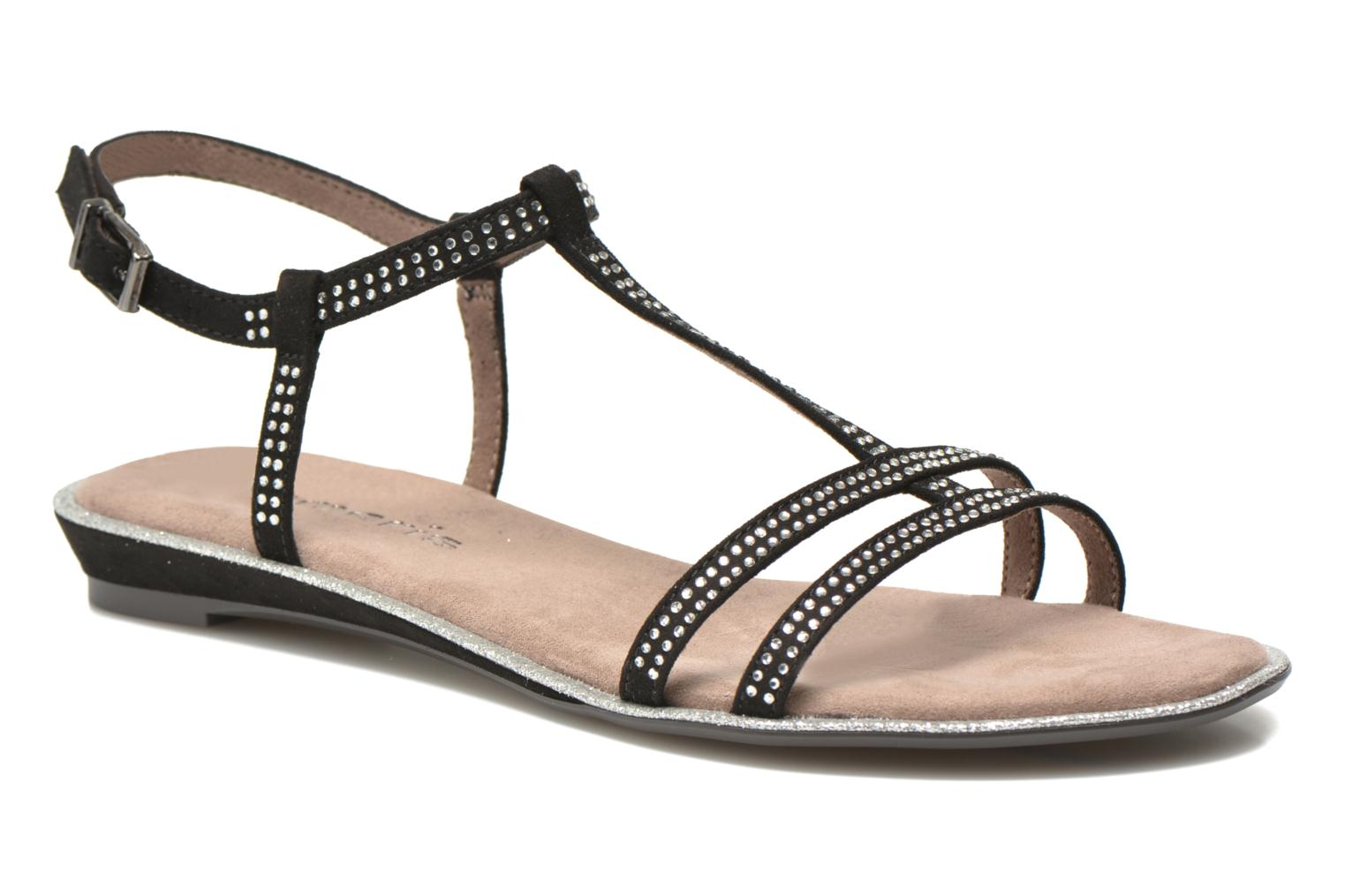 Sandals Tamaris Lubela Black detailed view/ Pair view