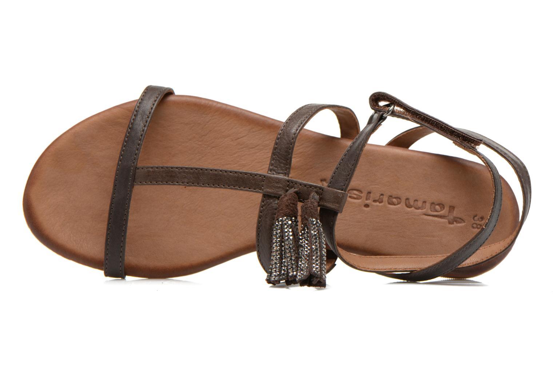 Sandales et nu-pieds Tamaris Arava Marron vue gauche
