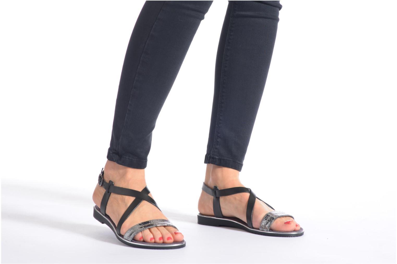 Sandales et nu-pieds Tamaris Lucinda Marron vue bas / vue portée sac