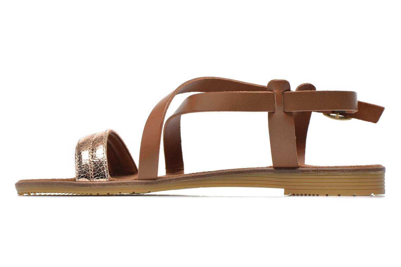 Sandales et nu-pieds Tamaris Lucinda Marron vue face