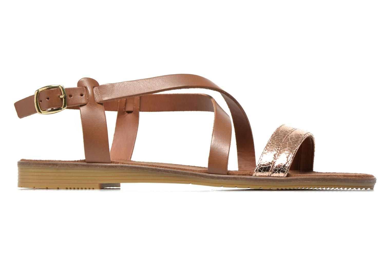 Sandales et nu-pieds Tamaris Lucinda Marron vue derrière