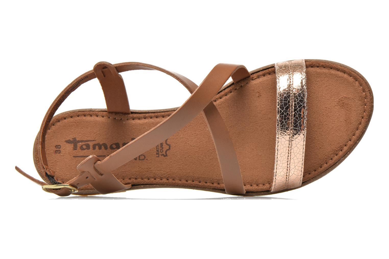 Sandales et nu-pieds Tamaris Lucinda Marron vue gauche