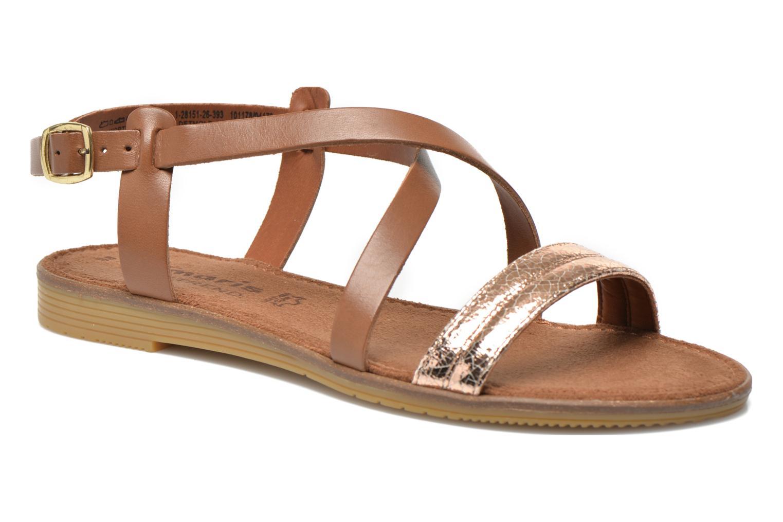 Sandales et nu-pieds Tamaris Lucinda Marron vue détail/paire