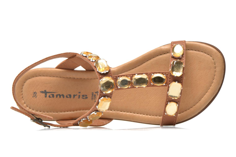 Sandales et nu-pieds Tamaris Turana Marron vue gauche