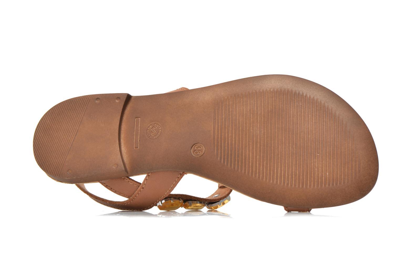 Sandales et nu-pieds Tamaris Turana Marron vue haut