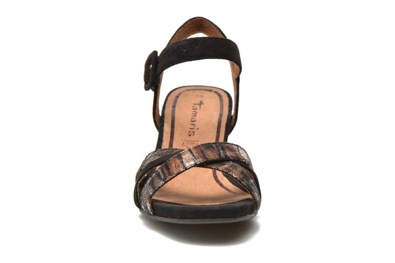 Sandales et nu-pieds Tamaris Covuja Noir vue portées chaussures