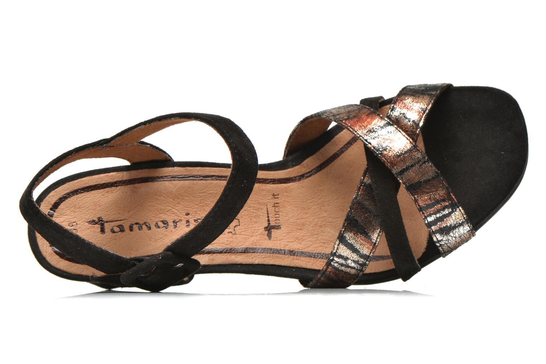 Sandales et nu-pieds Tamaris Covuja Noir vue gauche