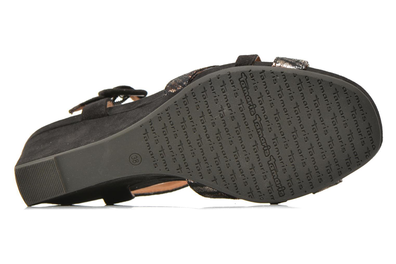 Sandales et nu-pieds Tamaris Covuja Noir vue haut