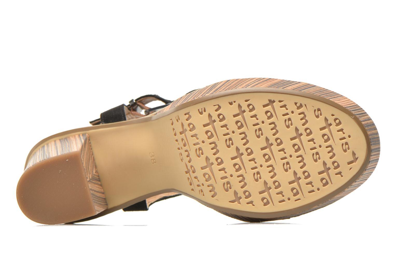 Sandales et nu-pieds Tamaris Atraba Noir vue haut