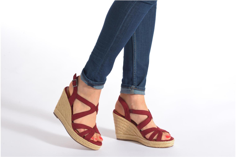 Sandales et nu-pieds Tamaris Pobafu Noir vue bas / vue portée sac