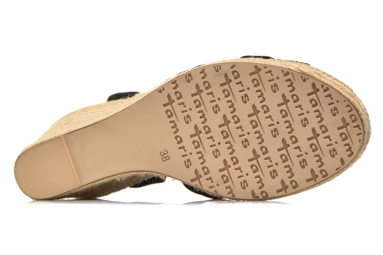 Sandales et nu-pieds Tamaris Pobafu Noir vue haut