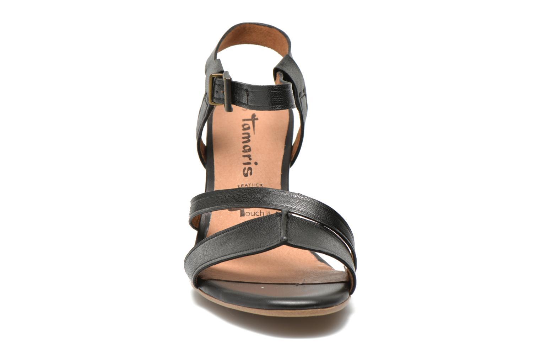 Sandales et nu-pieds Tamaris Mosuly Noir vue portées chaussures