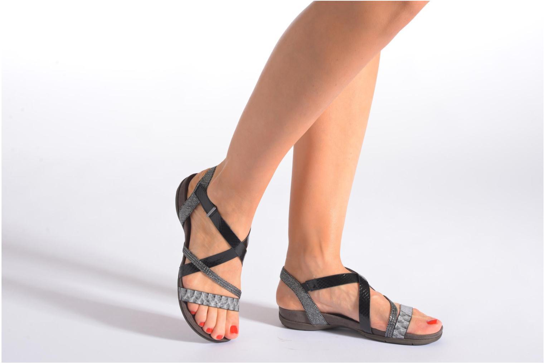 Sandals Tamaris Nurina Black view from underneath / model view