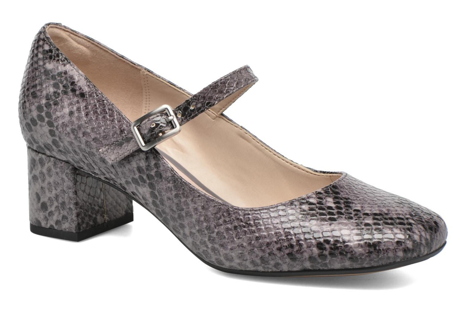 Clarks Chinaberry Pop Femme Escarpins Greyblue Chaussures