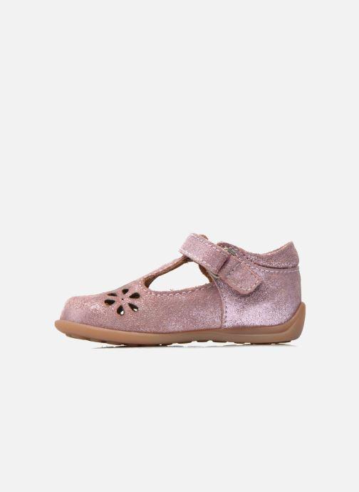 Velcro shoes Bisgaard Tia Pink front view