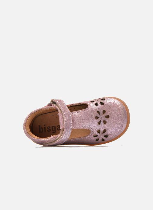 Zapatos con velcro Bisgaard Tia Rosa vista lateral izquierda