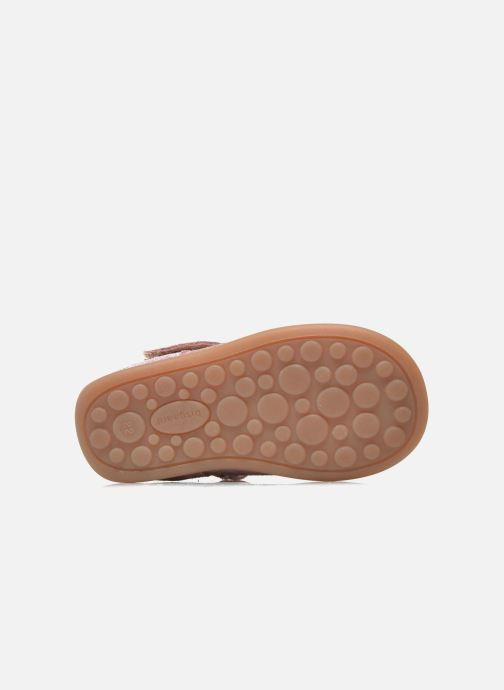 Velcro shoes Bisgaard Tia Pink view from above
