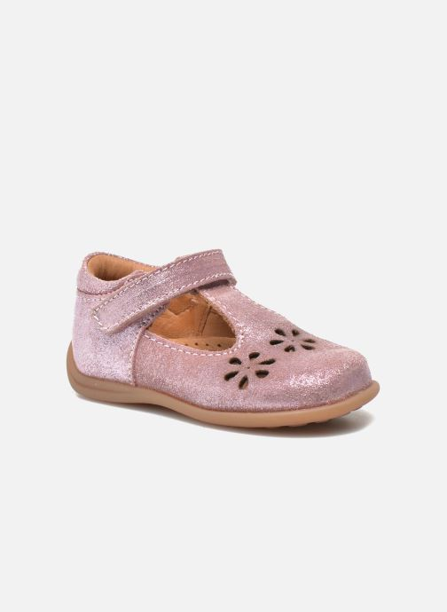 Velcro shoes Bisgaard Tia Pink detailed view/ Pair view