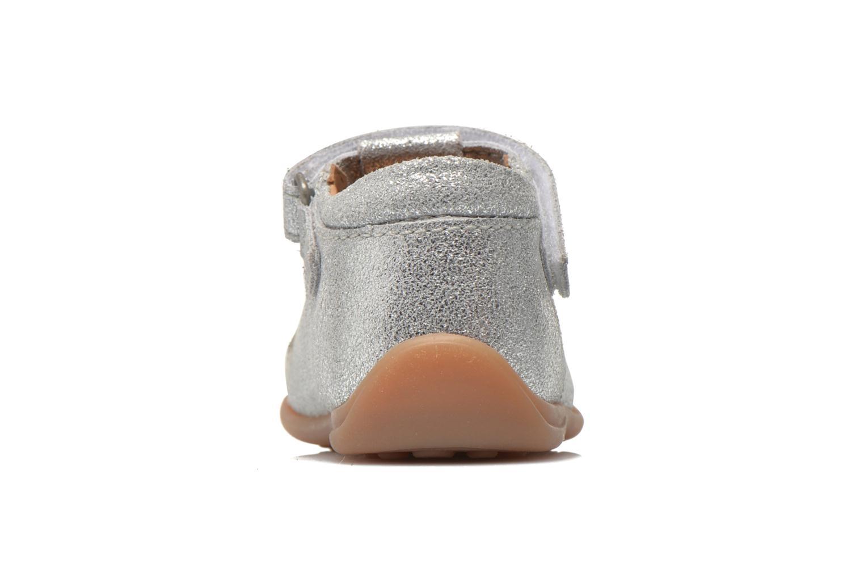 Chaussures à scratch Bisgaard Tia Argent vue droite