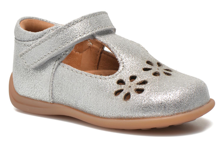 Chaussures à scratch Bisgaard Tia Argent vue détail/paire