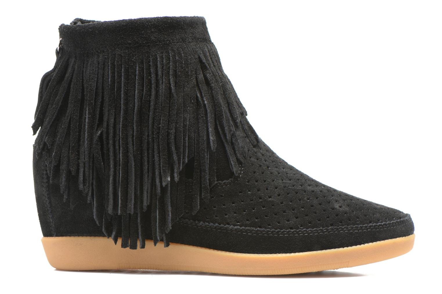 Ankle boots Shoe the bear Emmy Fringes Black back view