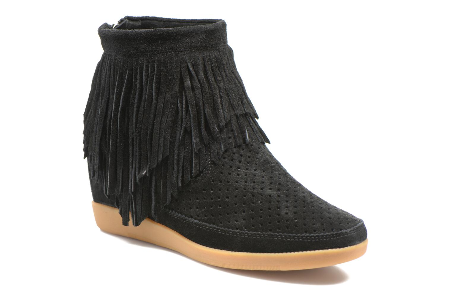 Ankle boots Shoe the bear Emmy Fringes Black detailed view/ Pair view