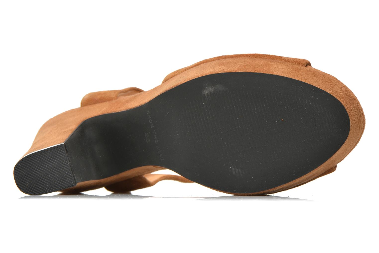 Sandales et nu-pieds Shoe the bear Sandy Marron vue haut