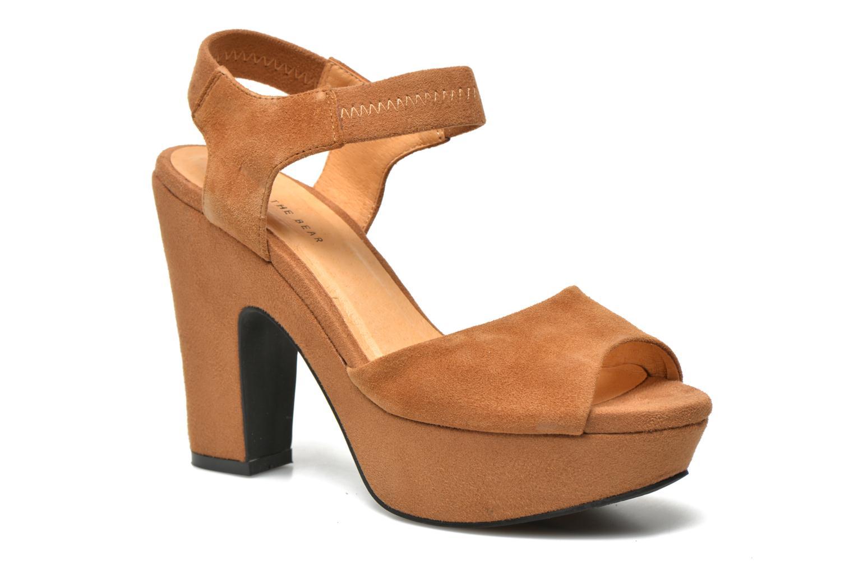 Sandales et nu-pieds Shoe the bear Sandy Marron vue détail/paire