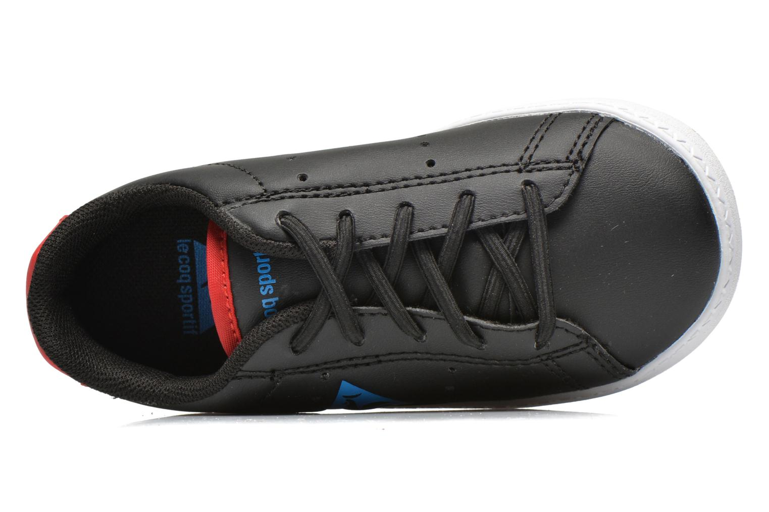 Trainers Le Coq Sportif Courtone INF s lea Black view from the left