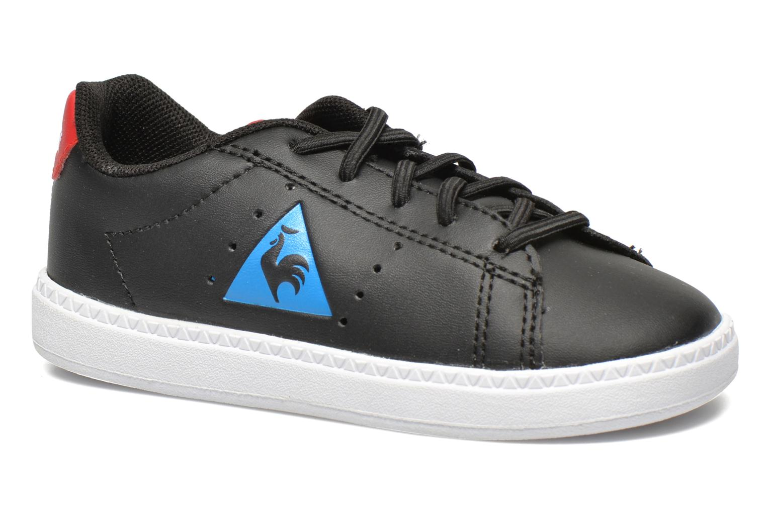 Trainers Le Coq Sportif Courtone INF s lea Black detailed view/ Pair view