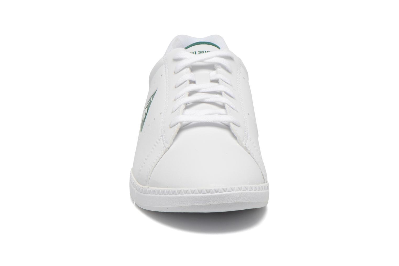 Baskets Le Coq Sportif Courtone GS BOY s lea Blanc vue portées chaussures