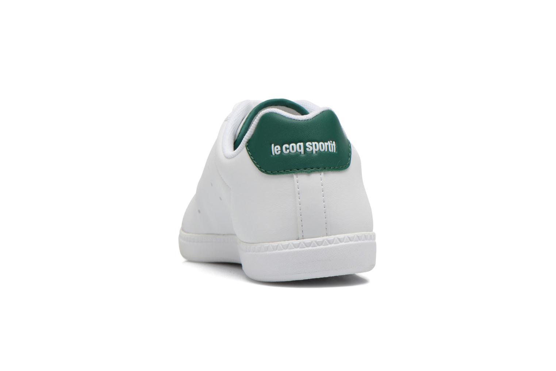 Baskets Le Coq Sportif Courtone GS BOY s lea Blanc vue droite