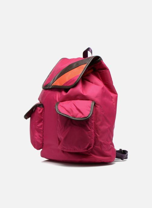 Zaini Bensimon Authentic backpack Rosa modello indossato