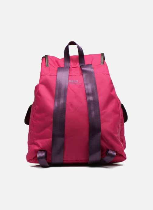 Zaini Bensimon Authentic backpack Rosa immagine frontale