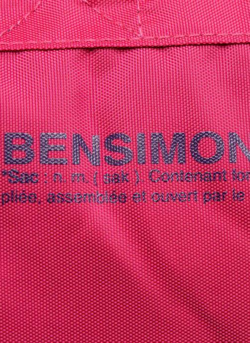 Zaini Bensimon Authentic backpack Rosa immagine sinistra