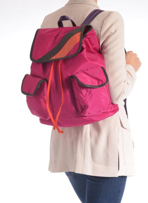 Rucksacks Bensimon Authentic backpack Pink view from underneath / model view