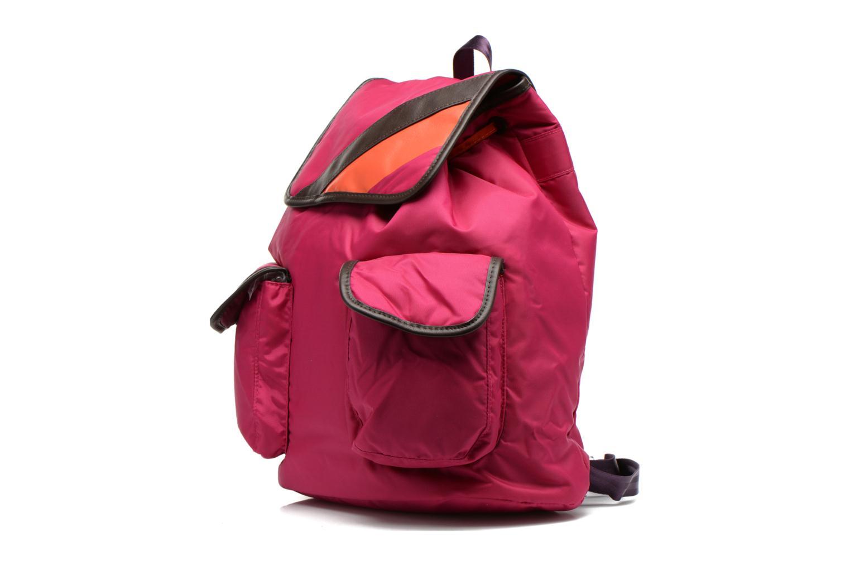 Sacs à dos Bensimon Authentic backpack Rose vue portées chaussures