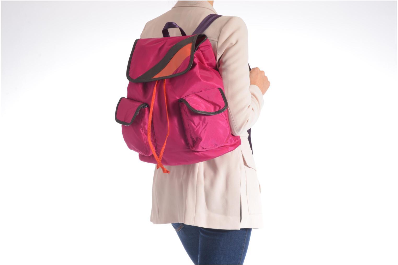 Sacs à dos Bensimon Authentic backpack Rose vue haut