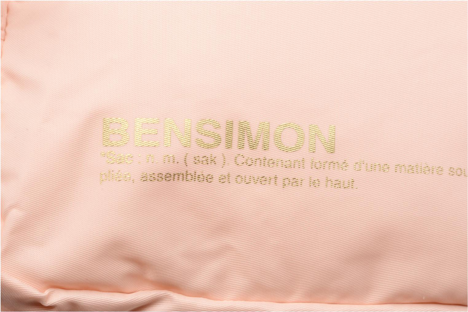 Sacs à dos Bensimon Color backpack Rose vue gauche
