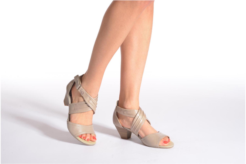 Sandales et nu-pieds Jana shoes Ranona Noir vue bas / vue portée sac