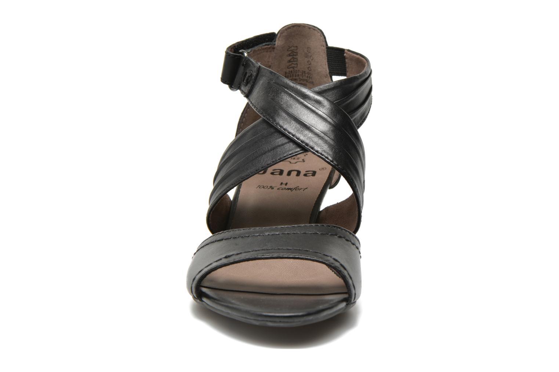 Sandales et nu-pieds Jana shoes Ranona Noir vue portées chaussures