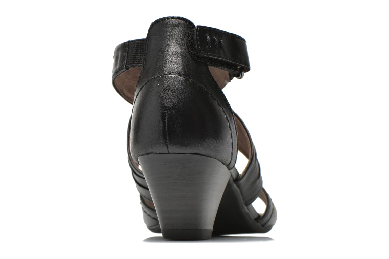 Sandales et nu-pieds Jana shoes Ranona Noir vue droite