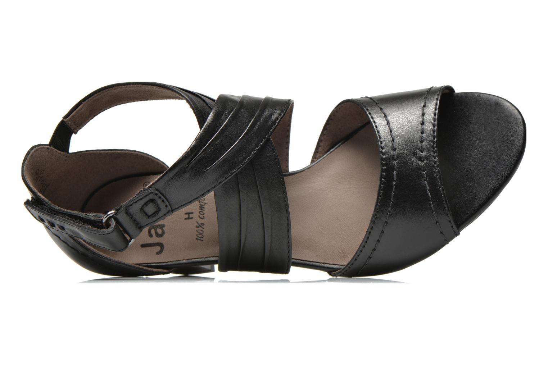 Sandales et nu-pieds Jana shoes Ranona Noir vue gauche