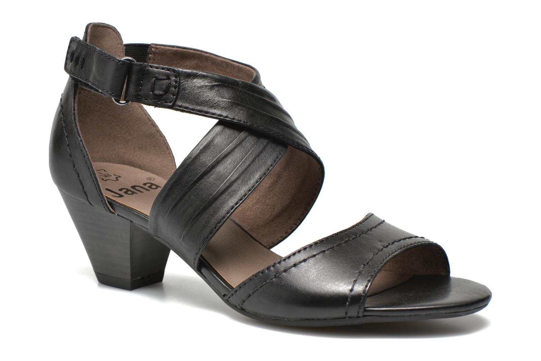 Sandales et nu-pieds Jana shoes Ranona Noir vue détail/paire
