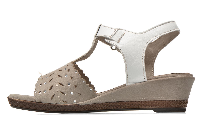 Sandalias Jana shoes Linka Gris vista de frente