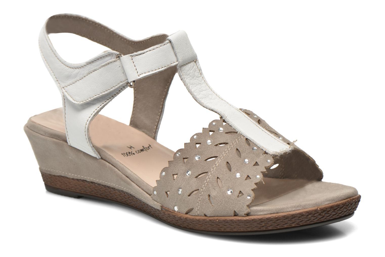 Sandalias Jana shoes Linka Gris vista de detalle / par