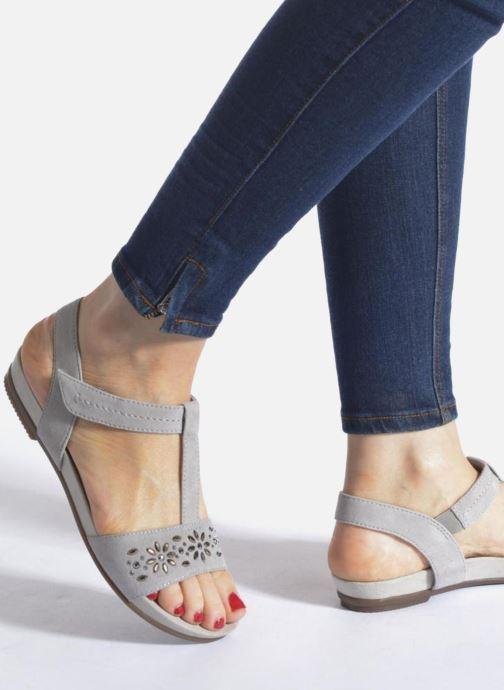 Sandales et nu-pieds Jana shoes Likia Gris vue bas / vue portée sac